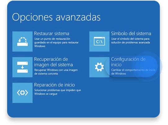 iniciar en modo seguro Windows 10: paso 3
