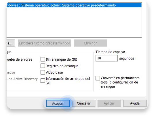 desactivar el modo seguro de Windows 10: paso 3