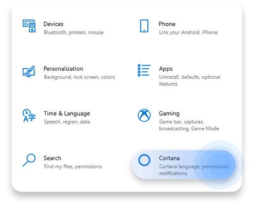 Select Cortana