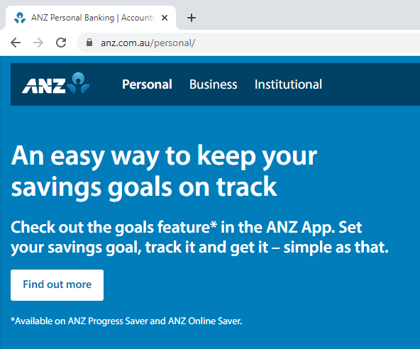 ANZ uses HTTPS