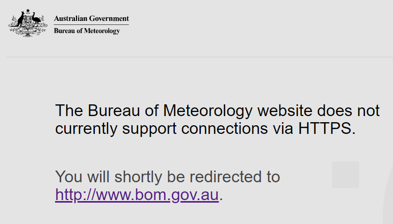 The Australian BOM rejecting an HTTPS connection