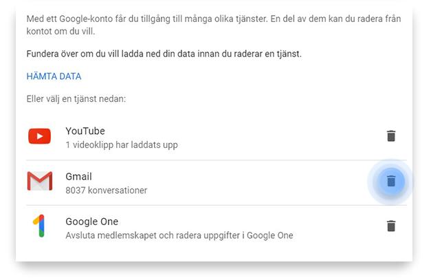 Så tar du bort Gmail-konto på PC steg 4