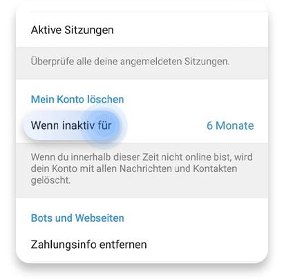 Telegram Kontakte Sehen