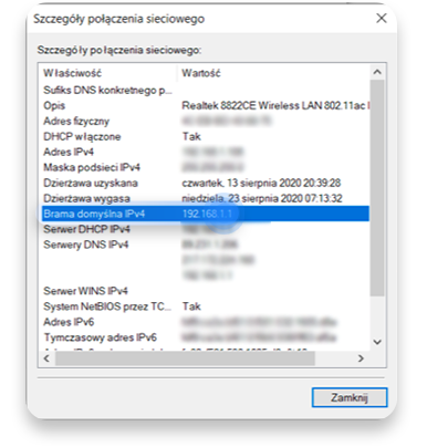 jak sprawdzić adres ip routera na Windowsie: krok 4