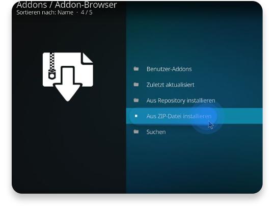 wie man Fusion nutzt und Repositories und Add-ons hinzufügen kann schritt 3