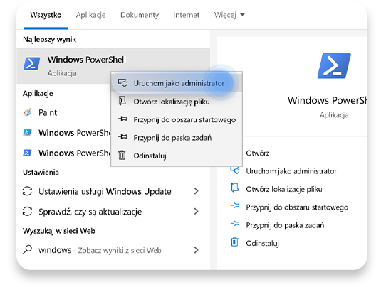 usunąć bloatware (Windows PowerShell): krok 1