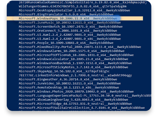 usunąć bloatware (Windows PowerShell): krok 2