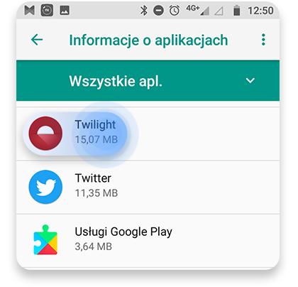 usunąć bloatware (Android): krok 2