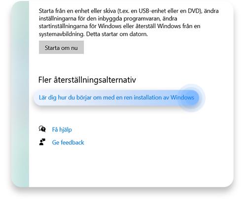 Använd Windows 10 Refresh Tool