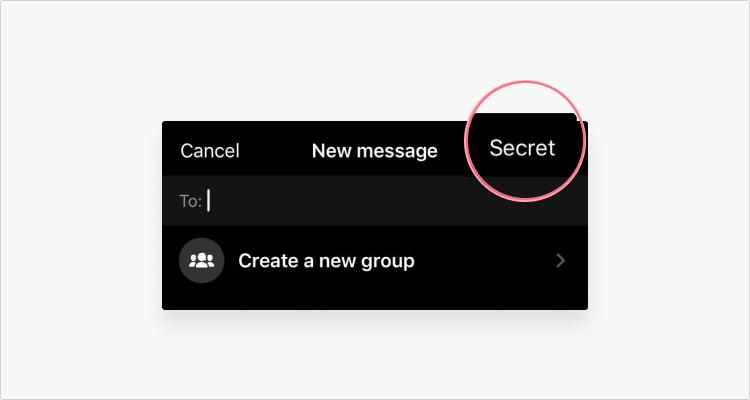 Nhấn vào Bí mật