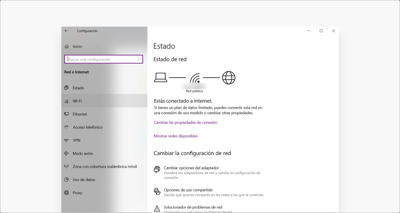 Configuracíon de Windows Paso 2