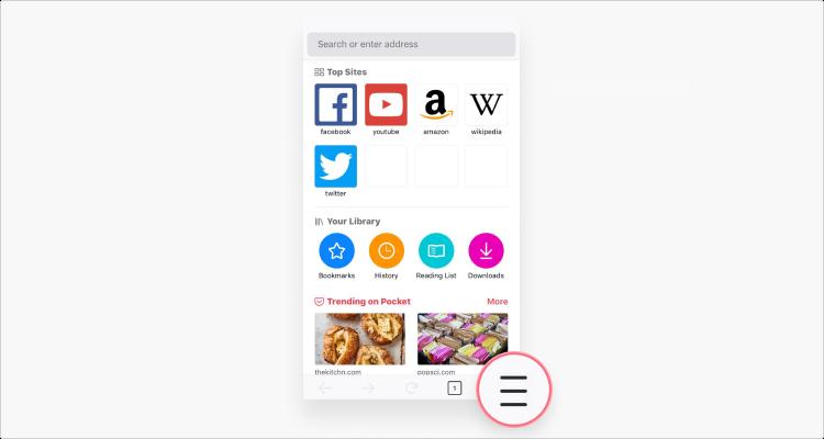 Xóa cookie trong Mozilla iOS