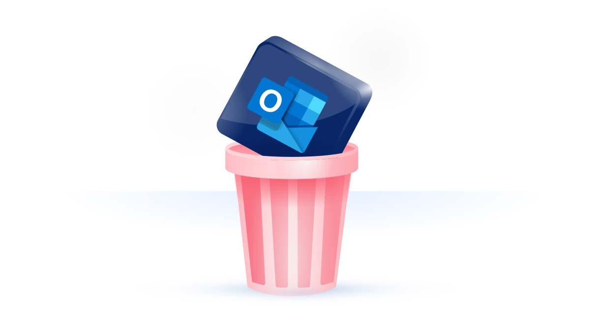 Como eliminar a conta do Outlook?