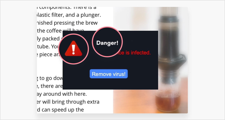 pop-up malicioso