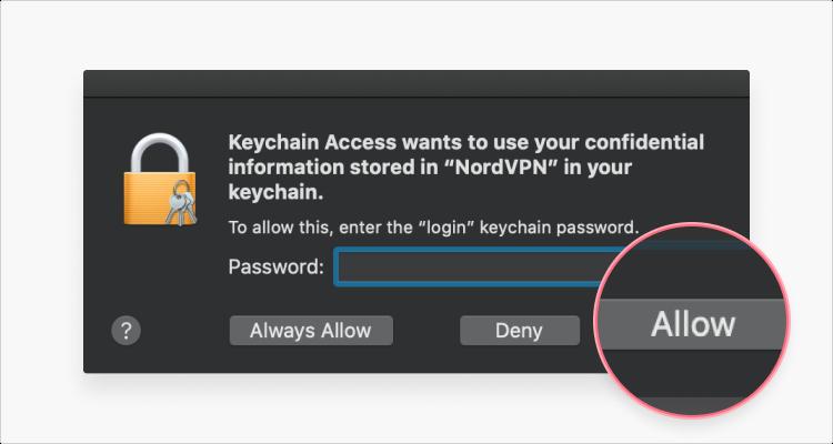 Change password in keychain